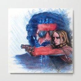'Rush' film poster - Drawing in colour pencil Metal Print