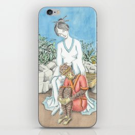 Guanyin and the Monkey King iPhone Skin