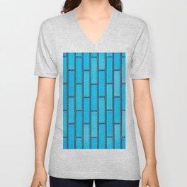 Turquoise Brick Unisex V-Neck