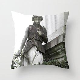Guardian with Garland Throw Pillow