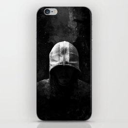 Modern Assassin Hood - B&W iPhone Skin