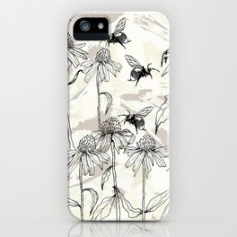 Buzzing bees - neutral iPhone Case