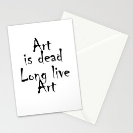 Banksy Art is Dead Stationery Cards