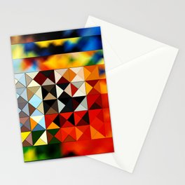 abstarct art with triangles Stationery Cards