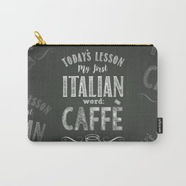 Italian Lessons / Coffee Carry-All Pouch
