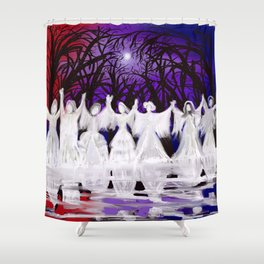 Midnight Prayers for the Living Sisters Shower Curtain