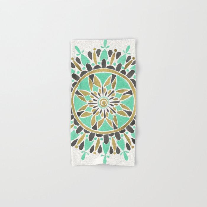 Mint & Gold Mandala Hand & Bath Towel