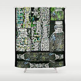 Plastics series 13 Shower Curtain