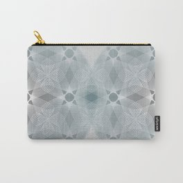 Colliding Circles in Teal and Grey Carry-All Pouch