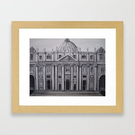 Painted St. Peter's Basilica Framed Art Print