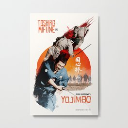 Akira Kurosawa's Yojimbo Metal Print
