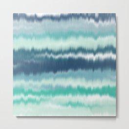 Ocean Soundwaves Metal Print