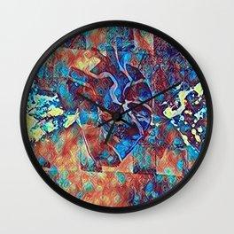 LSD heart Wall Clock