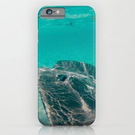 Sting Ray in Clear Water iPhone Case