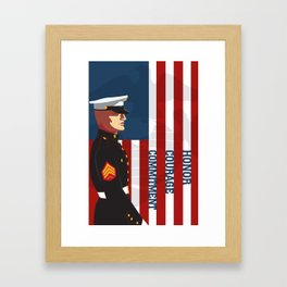 Honor, Courage & Commitment Framed Art Print