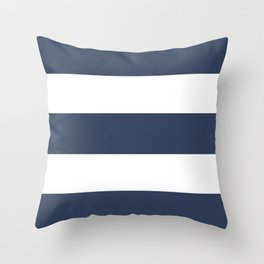 Blue Rugby Striped Art Throw Pillow