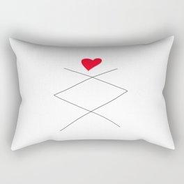 Inguz Rune with full Heart Rectangular Pillow