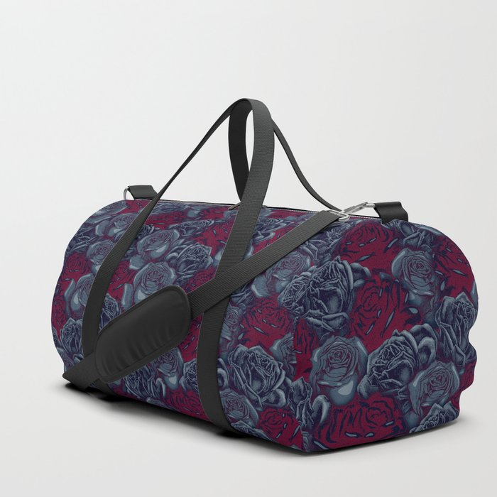 Stop and Smell the Roses CRIMSON MOONLIGHT Duffle Bag