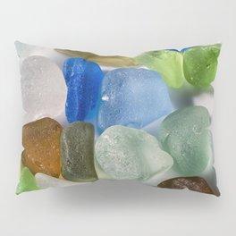 Colorful New England Beach Glass Pillow Sham