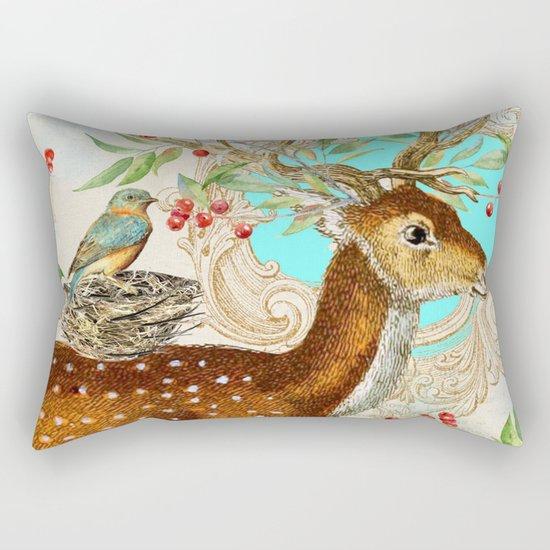 Winter animal #12 Rectangular Pillow