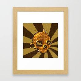 Honey comb splat skull Framed Art Print