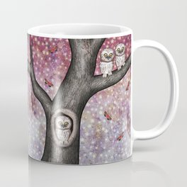 enchanted owls, moths, stars Coffee Mug