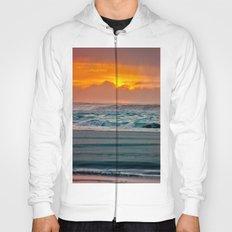 Ocean Sea Beach Water Clouds at Sunset - Pacific Coast Highway Hoody