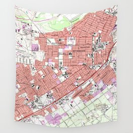 Vintage Map of Riverside California (1967) Wall Tapestry