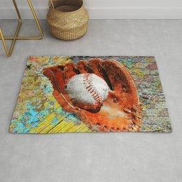 Baseball art printwork 12 Rug