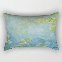 """Claude Monet """"Water Lilies"""" (10) Rectangular Pillow"""