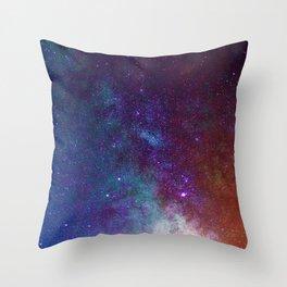 Warm Galaxy (Color) Throw Pillow