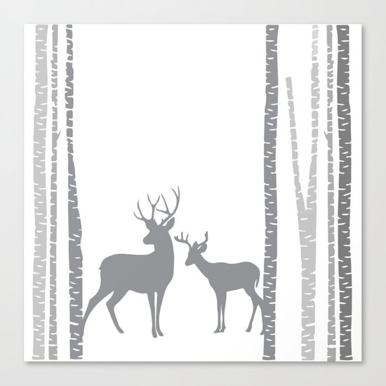 Lonely Deer No. 2 Canvas Print