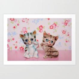 Hello kitties Art Print