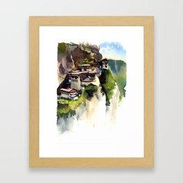 Tiger's nest Bhutan Framed Art Print