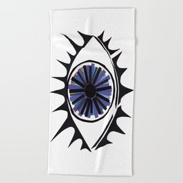 Blue Eye Warding Off Evil Beach Towel
