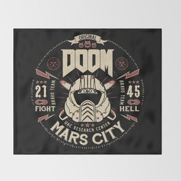 Doom - Fight Hell Throw Blanket