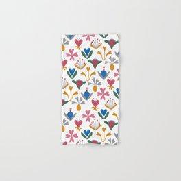 Fantasy Flowers – Blue Bell – Scandinavian Folk Art Hand & Bath Towel