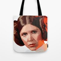 leia Tote Bags featuring Leia by DavyR