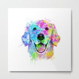 Golden Retriever Watercolor, Watercolor Dog, Golden Retriever Art Metal Print