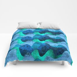 Grunge Sea waves Comforters