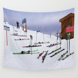 Skiers can't read ;o) Wall Tapestry