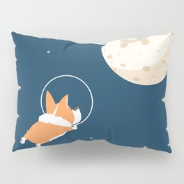 Fly to the moon _ navy blue version Pillow Sham