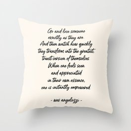 Love Someone Throw Pillow