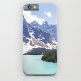 Moraine Lake Photography | Travel Alberta | Beautiful Landscape iPhone Case