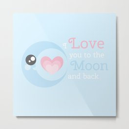 Moon Heart Metal Print
