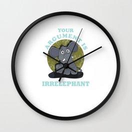 Irrelephant Wall Clock