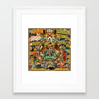 beastie boys Framed Art Prints featuring Beastie Boys Wow! Wow! Wow! Remix Tape Cover by Jeff Drew Pictures