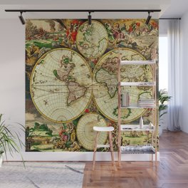 Ancient World Map 1689 Wall Mural