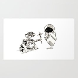 wall e love Art Print