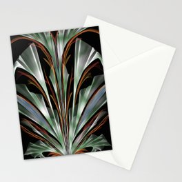 Retro Abstract Floral Design Stationery Cards